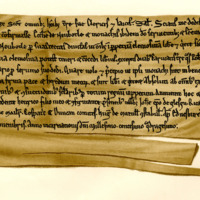 Charter by King David I to the Monks of Newbotle of Newbotle, 1st November 1140