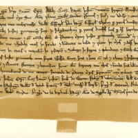 Charter by King William the Lion to William Giffard, of the lands of Tealing and others, 1st September 1195-1199