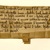 Charter by Robert de Bruce to Ivo and his heirs, of a fishing-place on the water of Esk, c. 1190