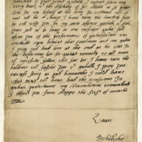 Letter by Sir Walter Scott, first Lord Scott of Buccleuch, dated Dieppe, 1st March 1584