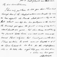 Letter by Alexander, Lord Saltoun, to his wife, 19th June 1815