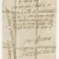 Letter by Mary, Countess of Buccleuch, to her husband, the Earl of Buccleuch, c. 1659