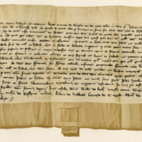 Charter by William, Earl of Douglas and Mar, to James of Mowat, of the lands of Easter Foulis in Mar, 26th July 1377