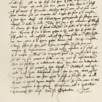 Letter by Mary, Queen of Scots, to Matthew, Earl of Lennox, in reference to Darnley's leaving Scotland. Edinburgh, 30th September 1566