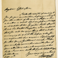 Letter by George, Prince of Wales, afterwards King George IV, to William Fullerton, Earl of Carberry, 11th October 1806