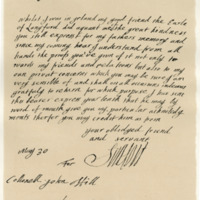 Letter by Kenneth, Earl of Seaforth, to Col. Hill, 30th May 1690