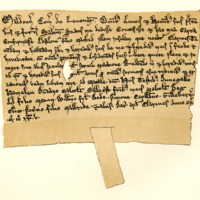 Charter by Maldouen, third Earl of Lennox, to Absolon, son of Macbed, of the island called Clarine [Clairinch in Loch Lomond], c. 1225