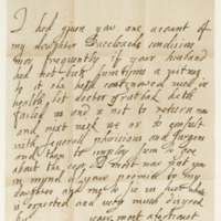 Letter by Lady Margaret Leslie to Lady Haychesters, 21st April c. 1654
