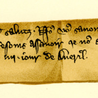 Letter from King Edward I to William, Earl of Sutherland, c. 1304