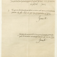 Letter by King James VI in his ninth year, to Captain Thomas Crawford of Jordanhill, 15th September 1575