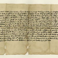 Indenture between Sir John of Glen and Margaret, his wife, and Sir John of Wemyss and Isabel, his wife, c. 1400