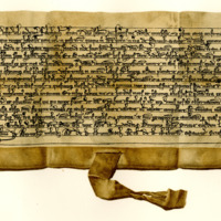 Renunciation by Falethauth to Sir Hugh of Abernethy, of his right to the lands of Drumkarauht, c. 1270