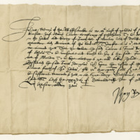 Letter by John, Earl of Mar, Regent, to Sir John Wemyss of that Ilk, anent a Borderer. Leith, 22nd December 1571