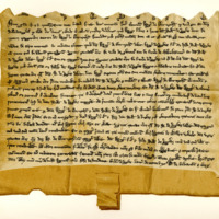 Indenture between Sir Hugh of Abernethy and Sir William of Douglas, for the marriage of Hugh of Douglas and Marjory of Abernethy, 6th April 1259