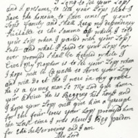 Letter by Rob Roy to the Earl of Breadalbane, 12th November 1707