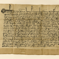Charter by Henry Wardlaw, Bishop of St Andrews, to David Wemyss, of the lands of Methil. St Andrews, 4th February 1423