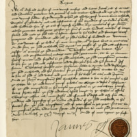 Discharge by James, Earl of Arran, Regent of Scotland, to Archibald Douglas of Glenbervie. Edinburgh, 20th March 1543