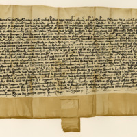 Charter by King Robert III confirming a Charter by Sir James Lindsay, Lord of Crawford, to John Telfer, of the lands of Harecleugh. Dunfermline, 6th March 1395