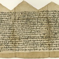Indenture between Sir John Wemyss of that Ilk and John Melville of Raith, about a mill lade in Pitcoumark. Dysert, 12th June 1427
