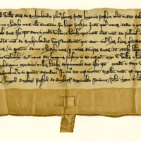 Charter by William, Lord of Sutherland, son of Hugh Freskyn, confirming the foregoing grant by his father to Gilbert, Archdeacon of Moray, c. 1214