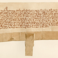 Charter by King Robert II to Walter Scott, of the superiority of Kirkurd. Edinburgh, 7th December 1389