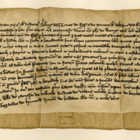 Charter by Robert Stewart, Earl of Fife and Menteith, to John of Wemyss, of the lands of Tillybreak, 1376-1398