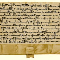 Charter by William of Soule, knight, to the Church of St Mary of Jedburgh, of land in Castleton, c. 1280