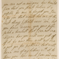 Letter by James, Duke of Monmouth, to his Duchess, 25th October 1677