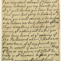 Letter by Queen Anne to David, third Earl of Leven. Windsor, 1st September 1708