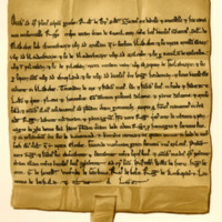 Charter by Robert de Brus to Roger Crispin, of the lands of Cuoculeran, c. 1218