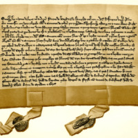 Agreement between Peter Haig of Bemerside and the Monks of Melrose, c. 1280
