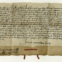 Dispensation by John, Archbishop of St Andrews, and Papal Legate, for the marriage of James, Earl of Bothwell, and Lady Jean Gordon. Monastery of Paisley, 17th February 1565
