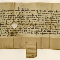 Charter by King Robert II confirming a charter by Walter Lesley to Andrew Mercer of Faithlie. Methven, 14th February 1381