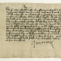 License by King James V to David Wemyss of that Ilk to absent himself from the Justice-Ayres at Haddington, &c. Edinburgh, 26th May 1529