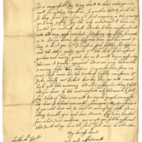 Letter by Francis, Earl of Buccleuch, to his Countess. Falkirk, 15th September 1648