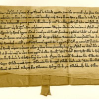 Charter by Thomas of Colville, called Scott, to the Abbey of Vaudey, of the lands of Keresban [or Carsphairn], 1214-1223