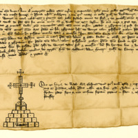 Notarial Instrument of Resignation by Sir David Wemyss of certain lands in favour of John Wemyss, 10th January 1373