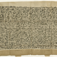 Deed of Excambion by Robert Scott, Lord of Rankilburn, to the Monastery of Melrose, of his lands of Glenkery in exchange for Bellenden. Melrose, 28th May 1415