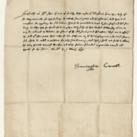 Letter from John Spottiswoode, Archbishop of St Andrews, to Sir John Grant of Freuchie, 9th March 1635