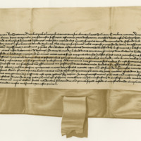 Charter by King James II confirming to Sir Walter Scott the Mains of Eckford. Stirling, 3rd May 1437