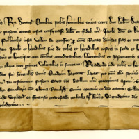 Charter by King Robert the Bruce to James, Lord of Douglas, of the lands of Polbuthy in Moffatdale, 15th December 1318