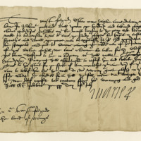 Letter by Mary of Guise, Queen Regent, to John Wemyss of that Ilk to receive and take charge of a Borderer. Jedburgh, 30th July 1555