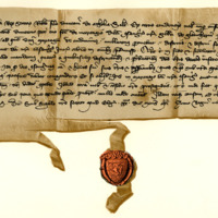 Letters under the Privy Seal of King David II forbidding Robert, son of Duncan of Athole, to waste the lands of Glencarnie, 20th April 1366