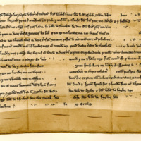 Charter by Ralph Noble, son of Sir Ralph Noble, to his brother, Thomas, of the lands of Ilieston, 30th January 1255
