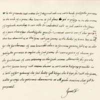 Obligation by King James VI to those who had advanced money for promoting his right to the Crown of England, c. 1600