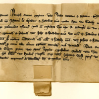Charter by John Randolph, Earl of Moray, to John the Grant, of the lands of Doveley, and the custody of the Castle of Tarnaway, 1st April 1346