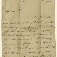 Letter by William Pitt to James, third Earl of Hopetoun, 31st August 1785