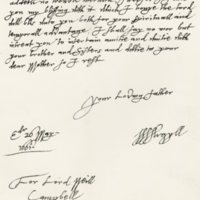 Letter by Archibald, Marquis of Argyll, to Lord Neil Campbell, 26th May 1661