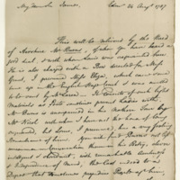 Letter by Henry Mackenzie to Sir James Grant, 24th August 1787