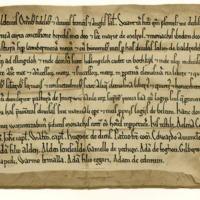 Charter by Earl Waldeve to the Monks of Melrose, of pasture in Lammermuir, 1166-1182